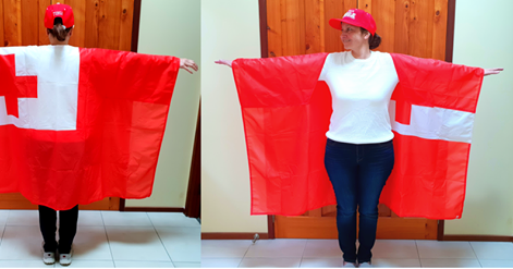Colleen in Cape Flag